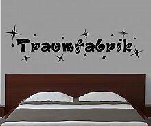 Wandtattoo Traumfabrik Sterne Kinderzimmer Spruch