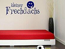 Wandtattoo Türaufkleber für Kinderzimmer Babyzimmer Spruch kleiner Frechdachs (122x50cm//083 haselnussbraun)
