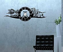 Wandtattoo Uhr Essen 160cmx55cm Stadt Wand Sticker