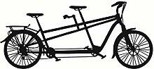 Wandtattoo Vinyl Aufkleber Tandem Fahrrad