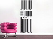 Wandtattoo, Wandaufkleber AMZTA0015 Barcode Tapete Achtung verschiedene Größen u. Farben
