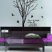 Wandtattoo Wandaufkleber Baum Ast 60x150cm PVC