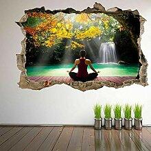 wandtattoo Wasserfall 3D Wandkunst Aufkleber