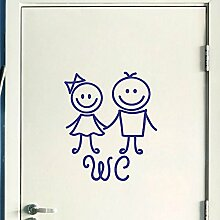 Wandtattoo WC Happy Kids schwarz