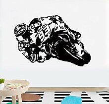Wandtattoo Wohnzimmer Motorrad Moto Racer Motor