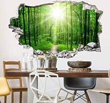 Wandtattoos - 3D Wandsticker Sunny Forest