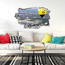 Wandtattoos - 3D Wandtattoo BVB Heißluftballon