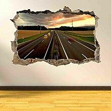 Wandtattoos Autobahn Road View Wandkunst Aufkleber