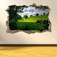 Wandtattoos Bäume Gras Natur Ansicht Wandkunst