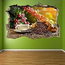 Wandtattoos Bohnen Tasse Coffee Shop Wandkunst
