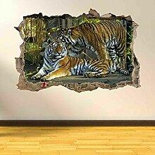 Wandtattoos Tiger 3D zerschlagen Wandkunst