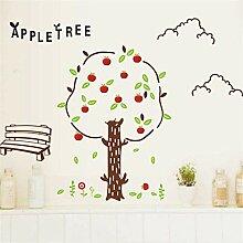 Wandtattoos Wall Sticker Cartoon Apple Tree Wall