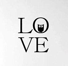 Wandtattoos Wandbildercartoon Eule Liebe Herz