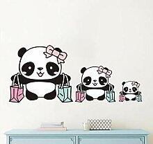 Wandtattoos Wandbildercartoon Panda Farbe
