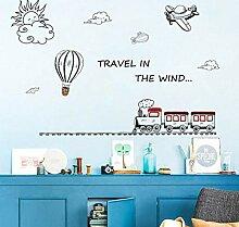 Wandtattoos Wandbilderzug Flugzeug Transport