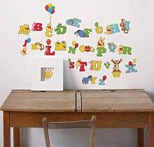 Wandtattoos - Wandsticker Buchstaben Winnie Puuh