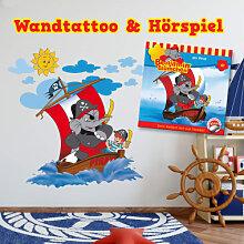 Wandtattoos - Wandtattoo Benjamin Blümchen - Piraten + Hörspiel-CD