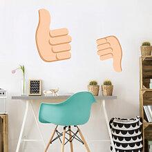 Wandtattoos - Wandtattoo Emoji Thumbs Up