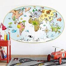 Wandtattoo Weltkarte Kinder günstig online kaufen | LionsHome