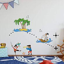 Wandtattoos - Wandtattoo Piraten-Set