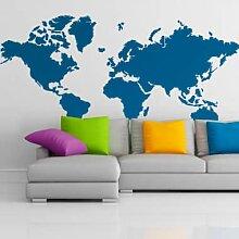 Wandtattoos - Wandtattoo Weltkarte einfach