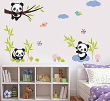 Wandtattoos & Wandtattoos Wandtattoo Panda Bamboo