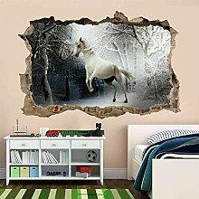Wandtattoos White Horse Wandkunst Aufkleber