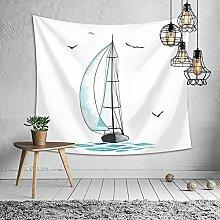 Wandteppich Hochwertige weißes Segelmeer