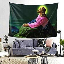 Wandteppich mit Jesus Christus, betet bei