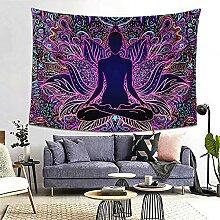 Wandteppich mit sieben Chakren, Bohemian-Mandala,