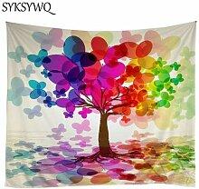 Wandteppich, Psychedelische Wand Hängen Baum