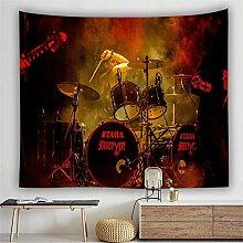 Wandteppich Wandbehang für Wohnzimmer Rock Band