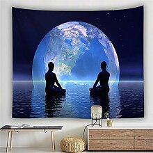 Wandteppich Wandbehang für Wohnzimmer Starry Blue