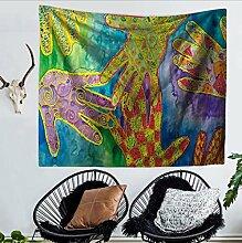 Wandteppich/Wandbehang/Tagesdecke/Wall Decor/Art/Bett/Raumteiler/Vorhang/Tischdecke/College Wohnheim/Picknick Decke und Strand Überwurf Tapisserie/Kreativität/Abstract/Farbe/Beauty/Wandteppichen Stickset/Hippie/Print//Baumwolle Handgemacht Gobelin/Betten Tagesdecke Picknick Beach Tabelle/Tisch Tuch/dekorativer Wandschmuck/200* 150cm, Polyester, #5, 150*130CM