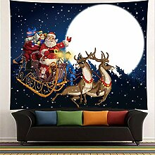 Wandteppich, Weihnachten Wand Hängen Mond