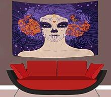 Wandteppich zum Aufhängen, Mexiko-Mädchen, Tag