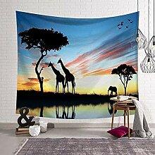 Wandteppiche Wandteppich Bild von Tieren Giraffen