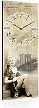 Wanduhr, 30x 80cm, Motiv: Marilyn Monroe,