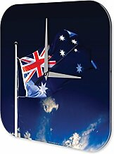 Wanduhr Abenteurer Wand Deko Australien Flagge Dekouhr 25x25 cm