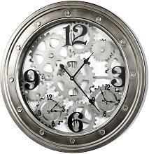 WANDUHR , Anthrazit , Metall , Dekoration, Uhren,