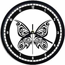 Wanduhr aus Kunststoff Schmetterling