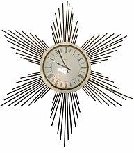 Wanduhr aus Metall in Sonnen-Optik von Paico,