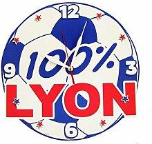 Wanduhr Ball Fußball 100% Lyon
