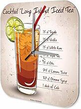 Wanduhr Bar Party Wand Deko Long Island Ice Tea Dekouhr Retro
