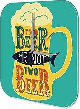 Wanduhr Bier Bar Kneipe Bierkrug Wand Deko Acryl Uhr