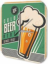 Wanduhr Bier Retro Deko Bier Partykeller Fun Wand Deko