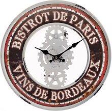 Wanduhr BISTROT DE PARIS D. 39cm Belldeco WA (14,50 EUR / Stück)