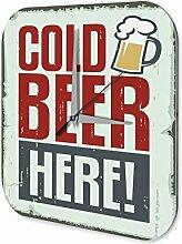 Wanduhr Brauerei Bier Küchen Deko Kaltes Bier Dekouhr Vintage