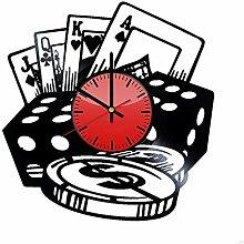 Wanduhr, Casino-Stil, Vinyl, originelle