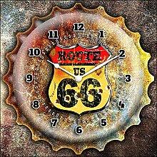 Wanduhr clockart Route 66Vintage 60x 60cm